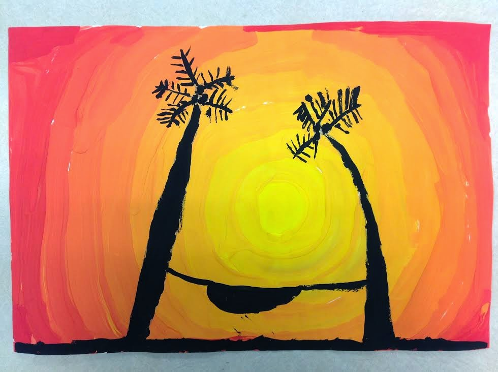 4th Grade Sunsets With Palm Trees
