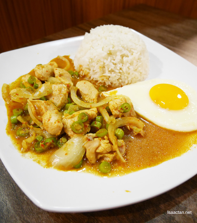 Khap Pao Chicken Rice with Egg