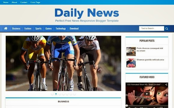 Daily News blogger template