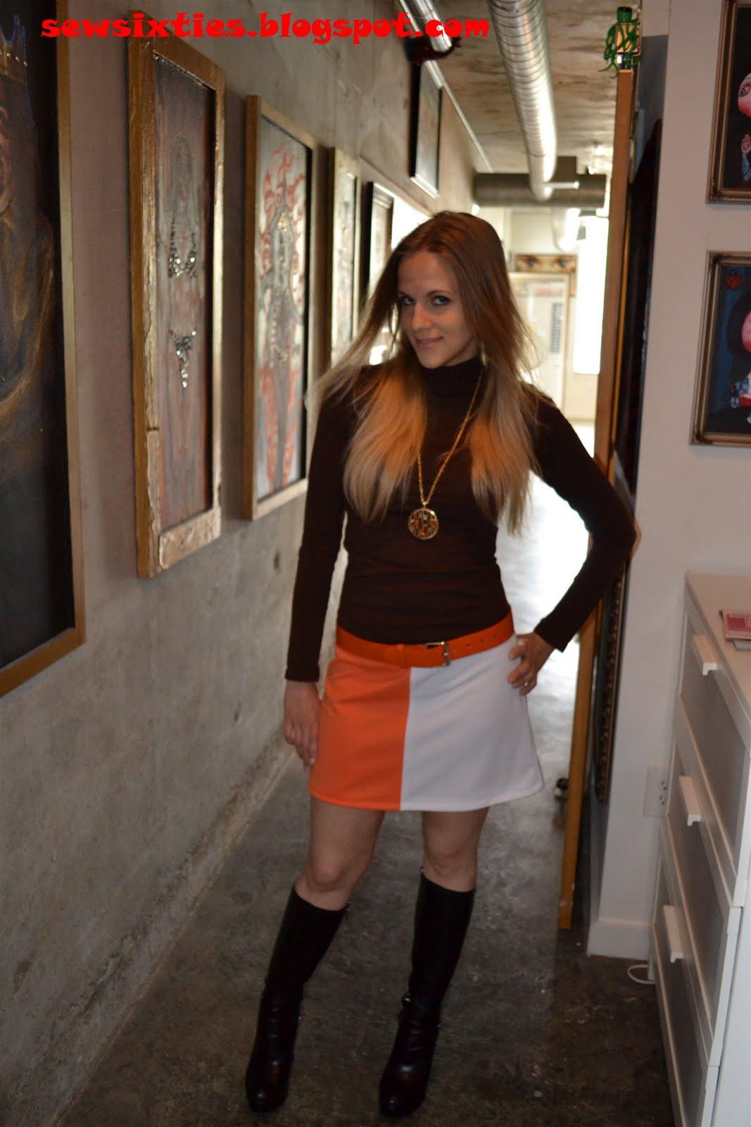 Sew Sixties Mod Mini Skirt Project Two Color Mini