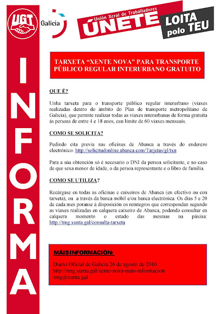 Ugt justicia galicia tarxeta xente nova para transporte for Oficina virtual xunta galicia