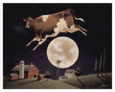 le lièvre lunaire hey diddle diddle ou la vache par