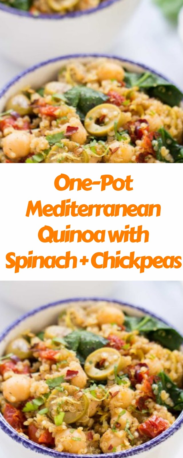 One-Pot Mediterranean Quinoa with Spinach and Chickpeas