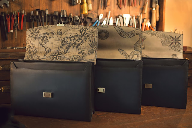 Montblanc's Limited Edition Secret Adornment Briefcase: The Tattoo Edition