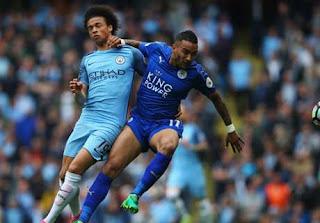 Manchester City Menang 2 - 1 atas Leicester City