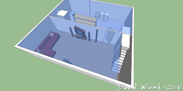 sketchup 3d basement