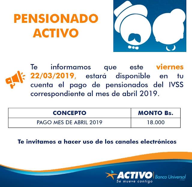 JUBILADOS Y PENSIONADOS IVSS.. CONFIRMADO EL PAGO DE PENSION IVSS..Ya es oficial el pago para el Viernes 22 - Marzo
