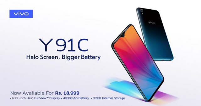 Vivo Launches the Affordable Y91C with Halo Display & Bigger Battery