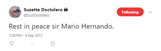 Veteran entertainment columnist and film critic Mario Hernando passes away