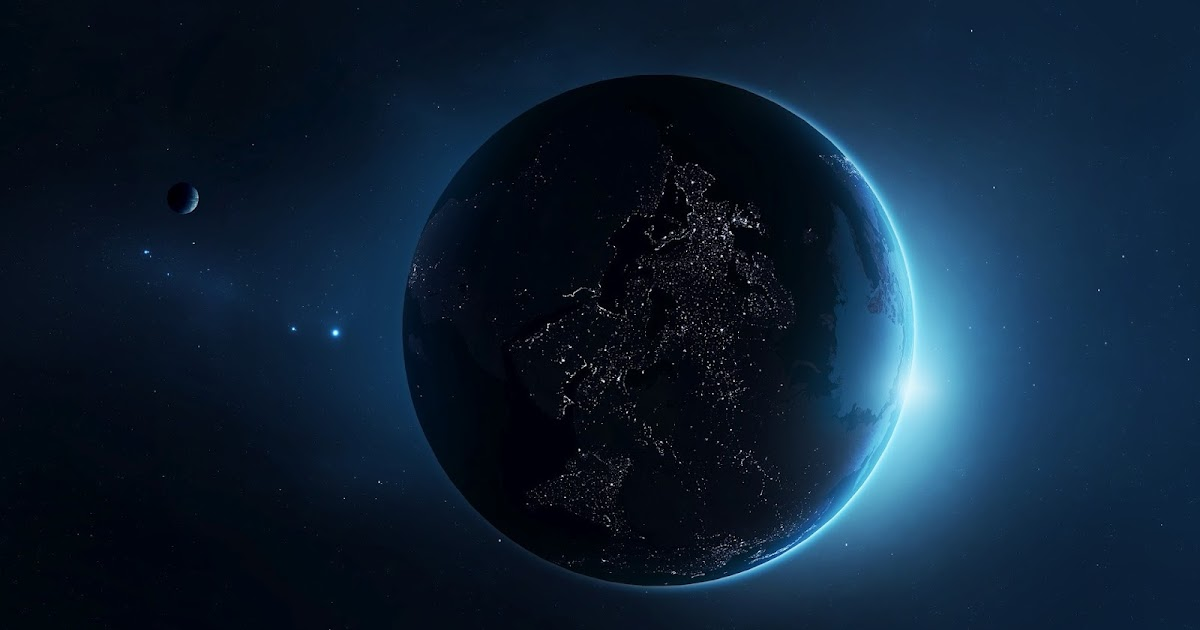 Planet Earth From Space at Night high resolution widescreen