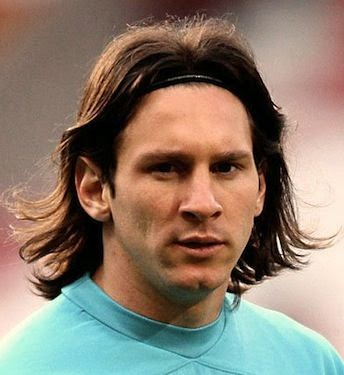 lionel messi long length hairstyle