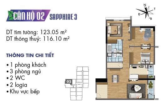 Căn hộ 02 Sapphire 3