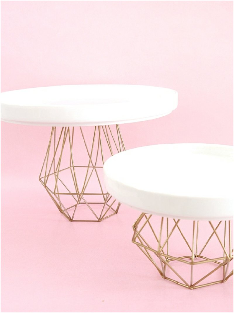 DIY Geometric Cake Stands