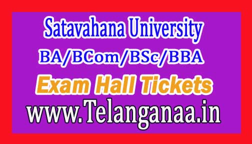 SU UG (BA/BCom/BSc/BBA) 1st Sem Exam Hall Tickets 2018 Satavahana University