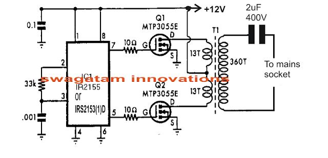 Power Line Communication Transmitter Circuit
