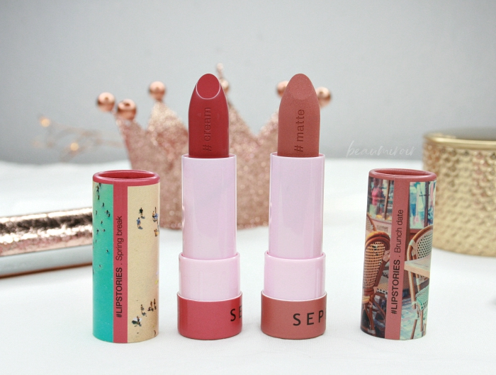 Sephora #lipstories lipstick in Spring Break and Brunch Date