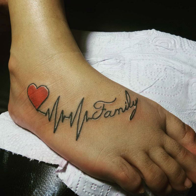 Tattoo Designs Rate: Mytattooland.com: Heart Rate Tattoo Ideas