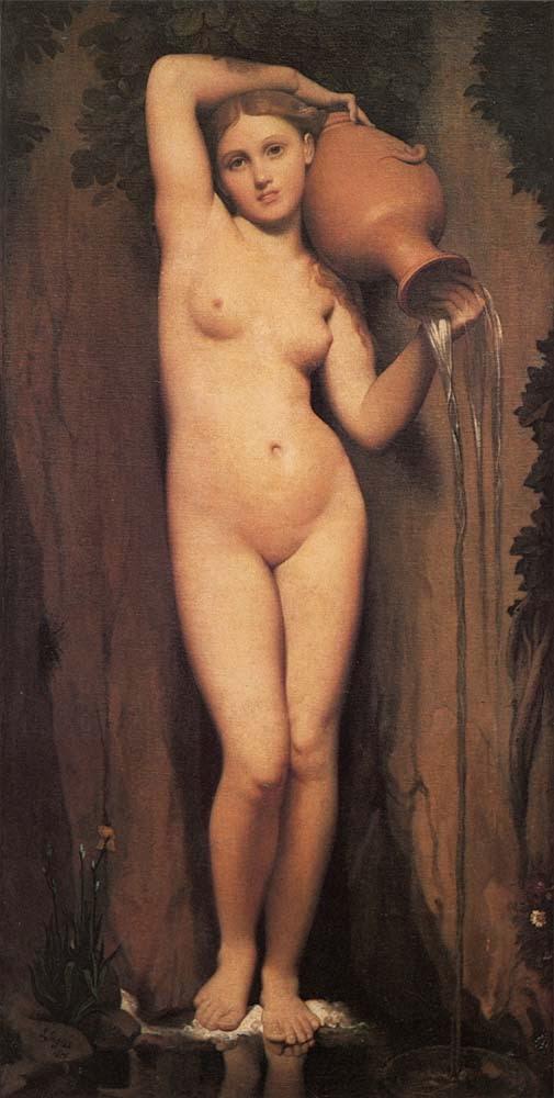 A Fonte - Ingres e suas principas pinturas ~ Neoclassicismo