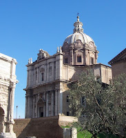The Chiesa dei Santi Luca e Martina, where Martina's remains are buried