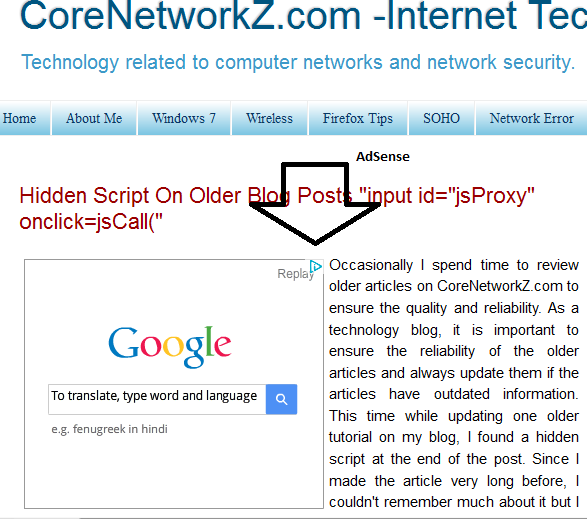Show Google Ads in blogger