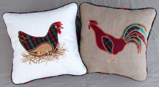 Appliquéd Farm Animal Cushions