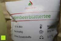 Übersicht: JoviTea® Himbeerblättertee BIO 80g z.B. zur Unterstützung der Geburtsvorbereitung - 100% natürlich und ohne Zusatz von Zucker. Aus Biologischem Anbau. Zutaten: Himbeerblätter