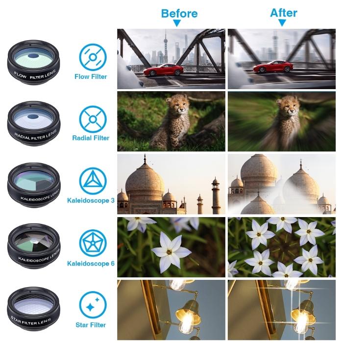 Apexel APL-DG10 10 σε 1 Φακοί Κάμερας για Smartphone