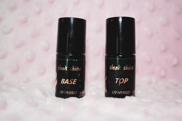 Paznokcie Hybrydowe: Baza i Top  Sleek Shine