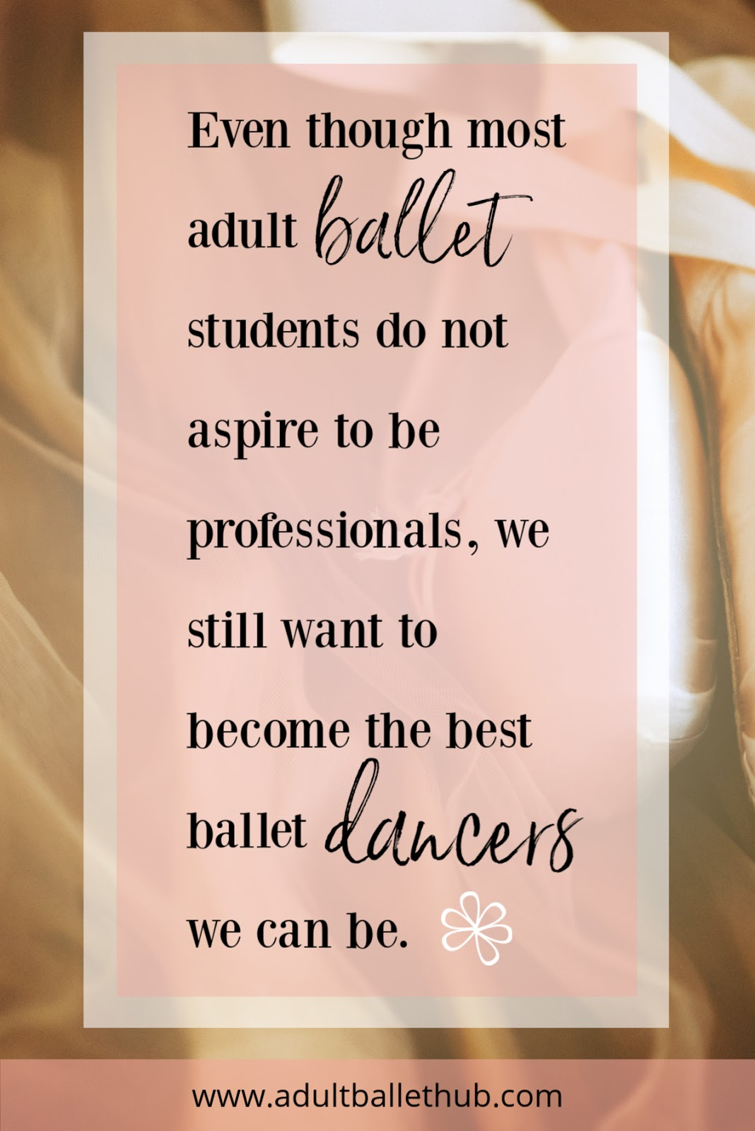 Even though most adult ballet students do not aspire to be professionals, they still want to be the best ballet dancers they can be.