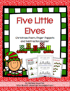 http://www.teacherspayteachers.com/Product/Five-Little-Elves-Poem-Finger-Puppets-and-Subtraction-Reader-Christmas-ELA-Math-1018877