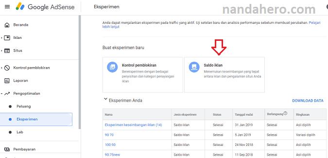Bagaimana melakukan eksperimen iklan Google  Tutorial Menjalankan Eksperimen di Google Adsense