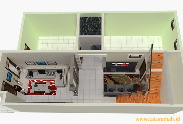 denah ruang renovasi lantai dua