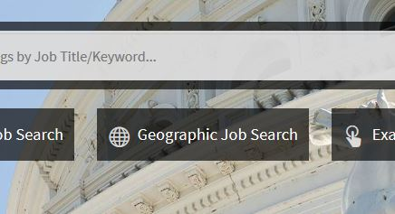 Image of Geographic Job Search button on CalCareers