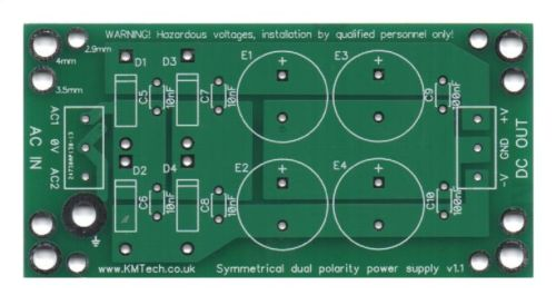 pcb power supply amplifier