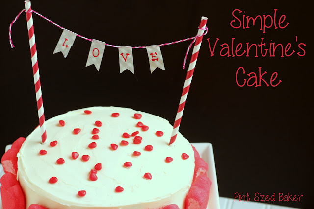 "This simple yet stunning pretty Valentine's Cake is perfect for any day of the year that you want to tell someone ""I love you""!"