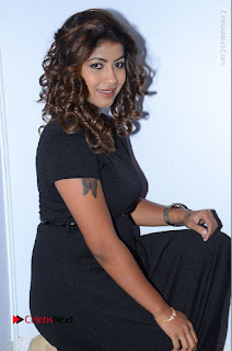 Tollywood Actress Geethanjali Thasya Latest Pos in Black Short Dress at Nanna Nenu Na Boyfriends Audio Launch  0034.JPG
