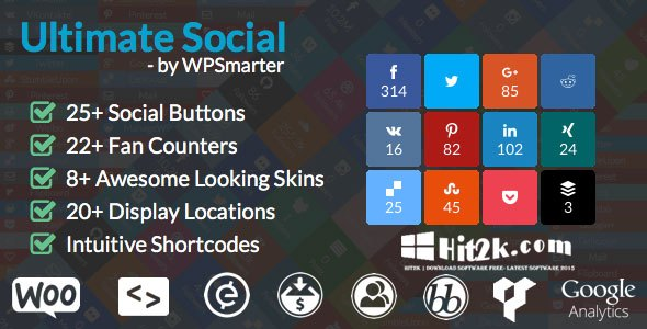 Ultimate Social Deux 6.0.1 Fast Sharing Buttons WP Plugin