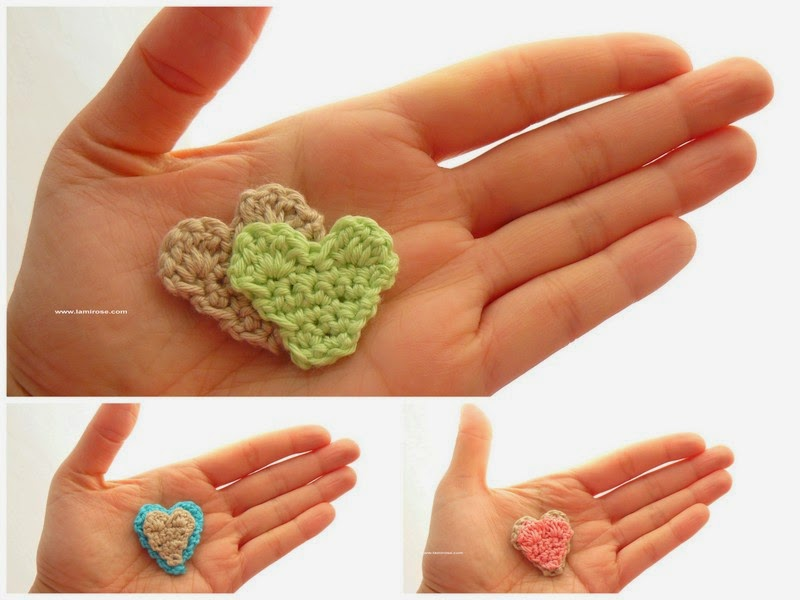 Lamirose Petite Broche Coeur Au Crochet Tuto