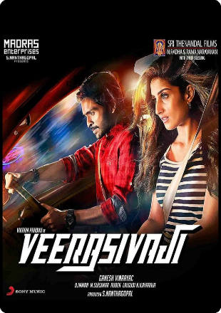Poster of Veera Sivaji 2016 Hindi Dubbed Movie HDRip 720p English Subs [Dual Audio] [Hindi- Tamil]
