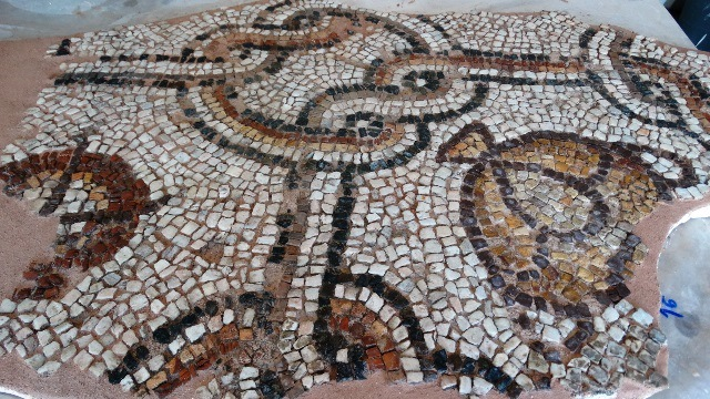 Dozens of square metres of mosaic flooring from Plovdiv's Great Basilica already restored