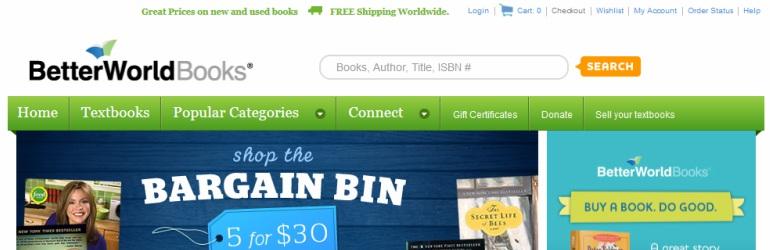 Better World Books - Livros frete grátis!