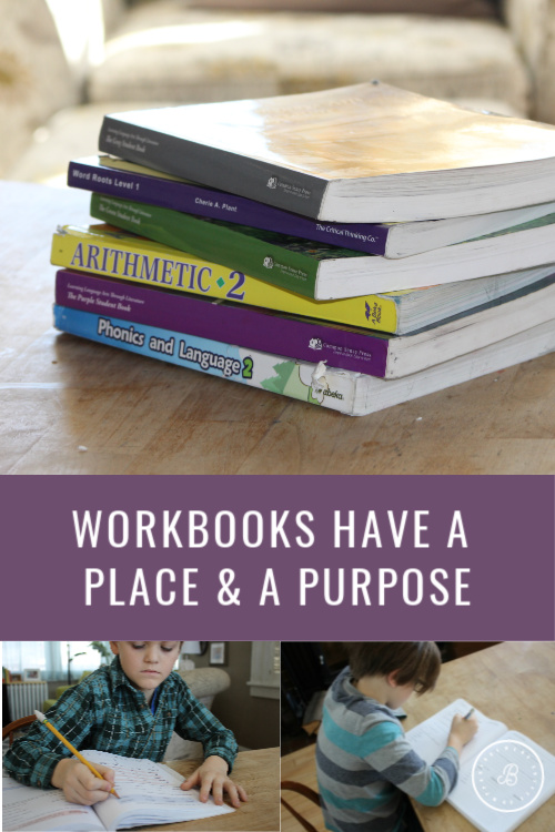 Workbooks Have a Place and a Purpose in Homeschooling Too #homeeducation #homeschool #homeschoolmethods
