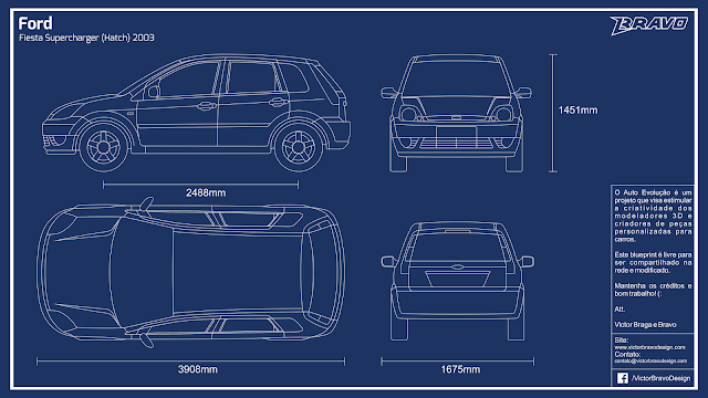 Imagem do blueprint do Ford Fiesta Supercharger (Hatch) 2003