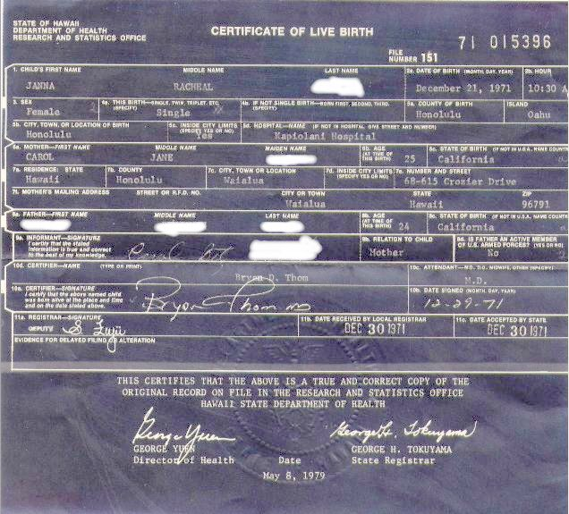 birth certificate hawaii 1960 certificates form bho rss whitehouse viewer gov pdf