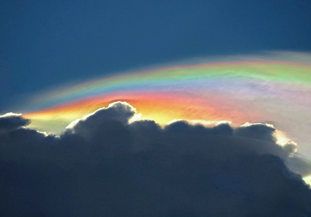 Iridescent Pileus Cloud. Phenomenal Photos