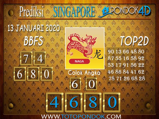 Prediksi Togel SINGAPORE PONDOK4D 13 JANUARI 2020