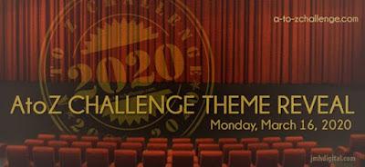 Theme Reveal #AtoZChallenge 2020 badge
