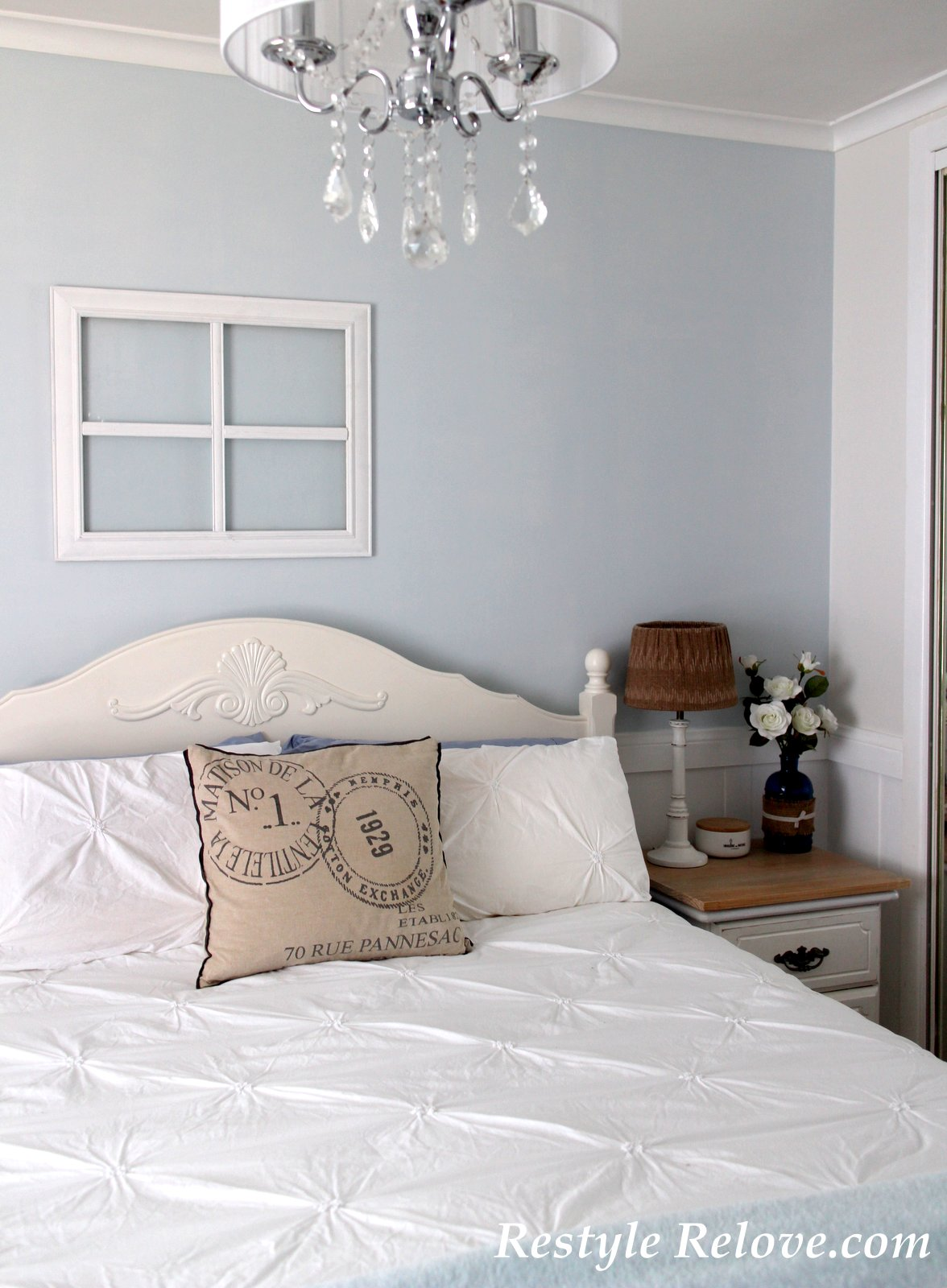 Master Bedroom In Blue And White