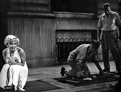 Escena vestido Marilyn detrás de las cámaras
