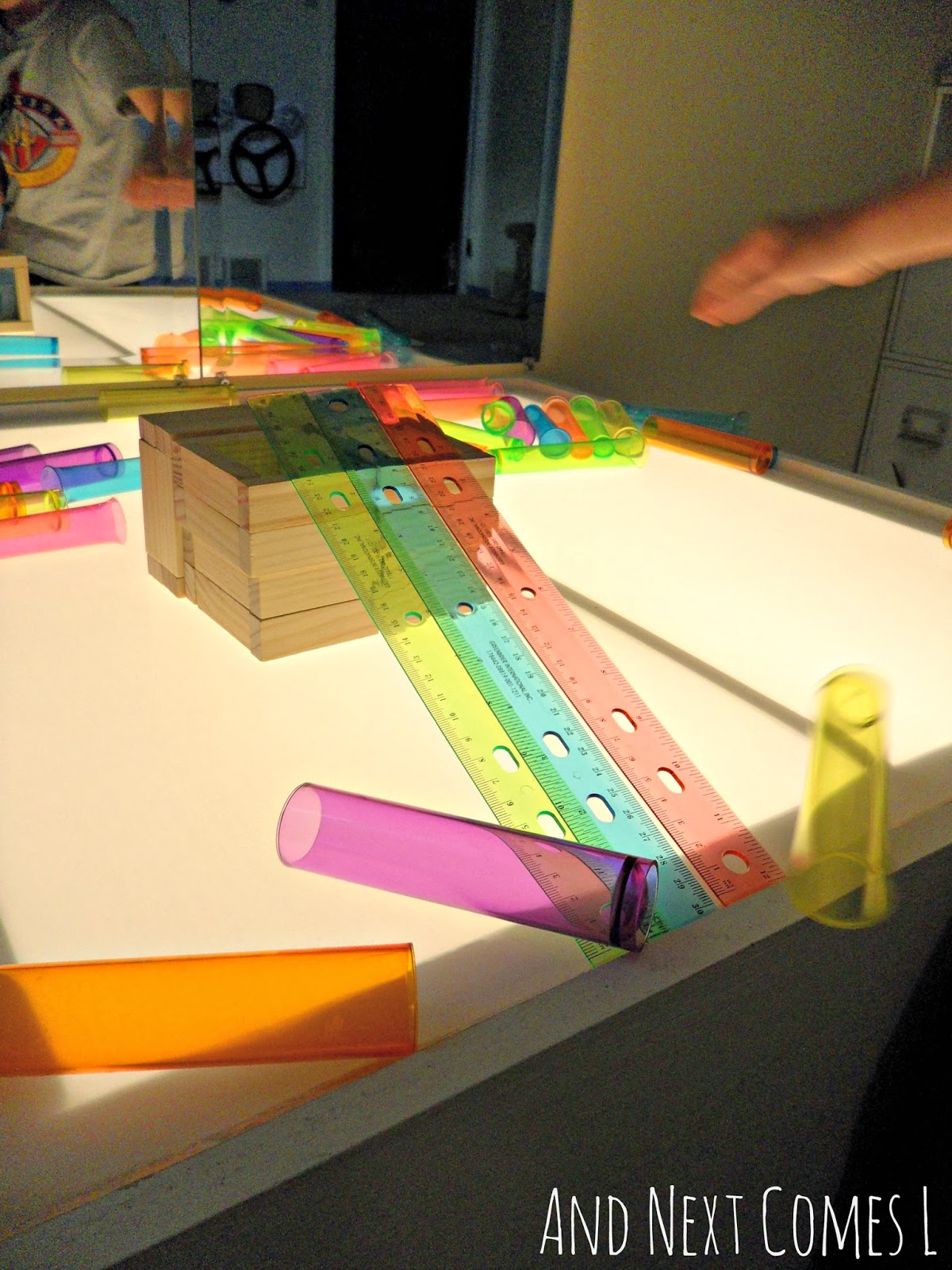 Ramps On The Light Table Stem Light Table Activity And